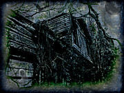 Haunted House Digital Art Metal Prints - Vacancy at the Inn Metal Print by Leslie Revels Andrews