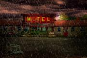 Motel Metal Prints - Vacancy Metal Print by Tom Mc Nemar