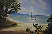 Landscap Painting Originals - Vacation by Albert Douglas