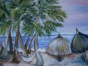 Acrylics Painting Prints - Vacation Print by Leslie Manley