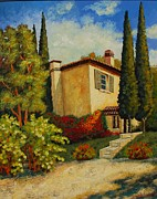 Villa Paintings - Vacation Villa by Santo De Vita