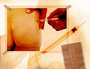 Buttock Prints - Vaccination, Conceptual Artwork Print by Miriam Maslo