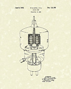 Electronics Drawings - Vacuum Tube 1943 Patent Art by Prior Art Design