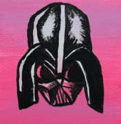 Humor Painting Prints - Vader in Pink Print by Jera Sky