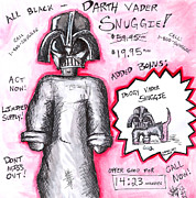 The Force Posters - Vader Shnuggie Ad Poster by Jera Sky