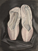 Dance Shoes Prints - Vaganova Print by Gitta Brewster