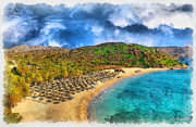 Hellas Prints - Vai beach Print by George Rossidis
