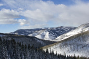 Colorado Mountains Prints - Vail Valley from Ski Slopes Print by Brendan Reals