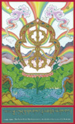 Tibetan Buddhism Paintings - Vajra by Carmen Mensink