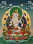 Thangka Paintings - Vajrasattva by Sergey Noskov