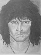 Hall Of Fame Drawings - Val Kilmer Vs Jim Morrison  by Cara Surdi