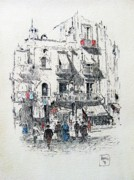 Turn Of The Century Drawings - Valencia Street by Roberto Prusso
