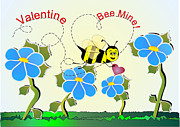 Montana Digital Art - Valentine Bee Mine by Susan Kinney