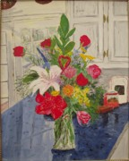 Arkansas Paintings - Valentine Bouquet by Sharon  Gonzalez