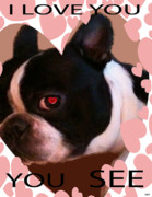 Puppy Digital Art - Valentine Card 7 by Debra     Vatalaro