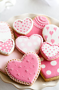 Tabletop Framed Prints - Valentine cookies Framed Print by Ruth Black