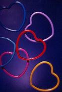 Ribbon Prints - Valentine Loops Print by Jerry Taliaferro