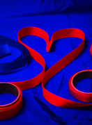 Ribbon Prints - Valentine Ribbons  Print by Jerry Taliaferro