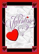Valentine Script Print by Melissa A Benson
