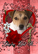 Jack Russell Digital Art - Valentines - Key to My Heart Jack Russell by Renae Frankz