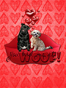 Be My Valentine Posters - Valentines - Sweetest Day - You Had Me at Woof Poster by Renae Frankz