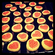 Homemade Posters - Valentines Cookies #homemade Poster by Zack Witt