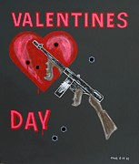 Valentines Day Massacre Framed Prints - Valentines Day Framed Print by One Rude Dawg Orcutt