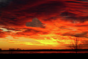 Skyscape Framed Prints - Valentines Day Sunrise Love in the Clouds Nature Image Framed Print by James Bo Insogna