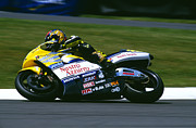 Donnington Park Framed Prints - Valentino Rossi Framed Print by Don Hooper