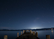 Dock Acrylic Prints - Valhalla Pier Star Gazing by Brad Scott