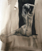 Nudes Drawings Originals - Valiant Beginnings by Peggi Habets