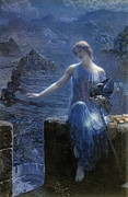 Norse Prints - Valkyries Vigil Print by Edward Robert Hughes