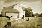 Pennsylvania Barn Print Prints - Valley Barn Print by Andrea Hazel Ihlefeld