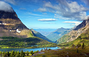 Glacier National Park Prints - Valley Beyond Print by Rebecca L. Latson
