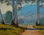 Eucalyptus Paintings - Valley Farm by Graham Gercken