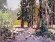 National Park Paintings - Valley Floor Trinity Alps by Susan F Greaves