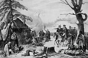 Lafayette Prints - Valley Forge, 1777 Print by Photo Researchers
