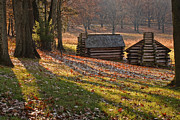 Log Cabins Framed Prints - Valley Forge Cabins Framed Print by Jack Booth