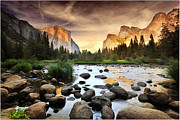 Yosemite National Park Framed Prints - Valley Of Gods Framed Print by John B. Mueller Photography
