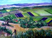San Juan Paintings - Valley of San Juan Batista  by Louise Roy