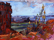 Red Rock Canyon Paintings - Valley of the Gods by Erin Hanson