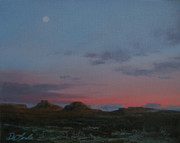Valley Of The Moon Painting Posters - Valley of the Gods Plein Air Poster by Mia DeLode