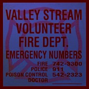 Police Art Posters - VALLEY STREAM FIRE DEPARTMENT in BLUE Poster by Rob Hans