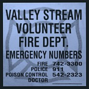 Police Art Posters - VALLEY STREAM FIRE DEPARTMENT in CYAN Poster by Rob Hans