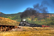 Steam Train Prints Art - Valley Trestle by Ken Smith