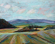 Farmland Painting Originals - Valley View by Todd Bandy