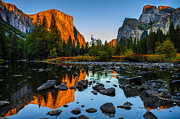Reflection Photo Framed Prints - Valley View Yosemite National Park Framed Print by Scott McGuire