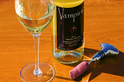 Wine Glass Digital Art - Vampire by John Galbo