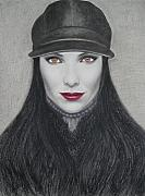 Dark Eyes Pastels Prints - Vampire Print by Lynet McDonald