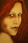 Wicca Paintings - Vampire by Roger Williamson